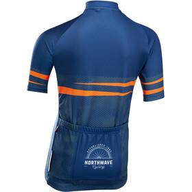 Northwave Origin Short Sleeve Jersey Kids blue/orange